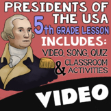 5th Grade Presidents Day Activities & Worksheets with Video