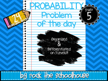 Probability Task Cards - Math Problem of the Day ( 5th grade word problems )