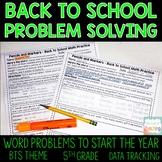 5th Grade Problem Solving Assessment Pack