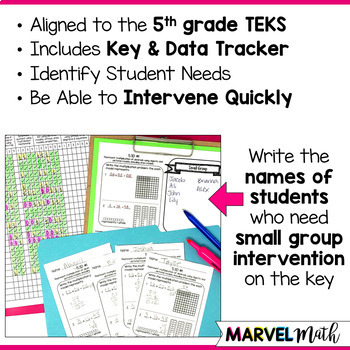 5th Grade Problem Solving with Decimals TEKS Exit Slips