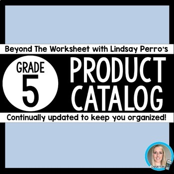 5th Grade Product Catalog