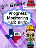 5th Grade Progress Monitoring Pack:  Texas Edition