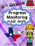 5th Grade Progress Monitoring Pack:  Texas Edition