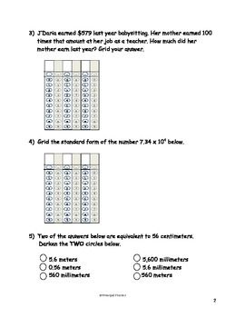 5th Grade Place Value and Rounding Decimals Quick Checks