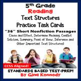 5th Grade Reading Skills Task Cards, 36 Nonfiction Passage
