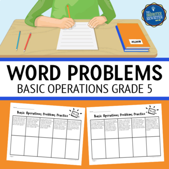 Word Problems 5th Grade Basic Operations