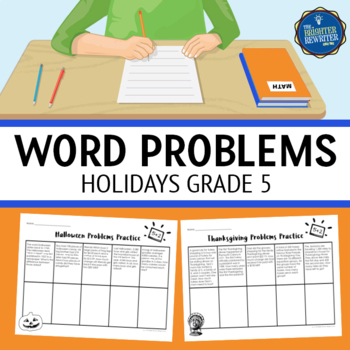 Word Problems 5th Grade Holidays