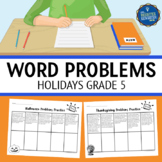 5th Grade Word Problems Holidays