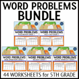 5th Grade Word Problems Bundle