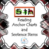 5th Grade Reading Anchor Charts and Sentence Stems {Common