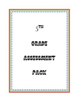 5th Grade Reading Assessment Pack