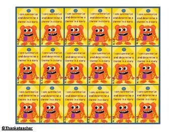 5th Grade Reading Common Core Brag Tags