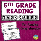 5th Grade Reading Comprehension Common Core Task Cards