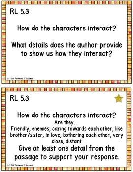 5th Grade Reading Comprehension Common Core Task Cards
