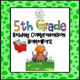 5th Grade Reading Comprehension Homework