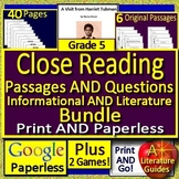 5th Grade Reading Comprehension Passages & Questions Distance Learning (Google)