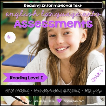 5th Grade • Reading Comprehension Passages and Questions • RL I