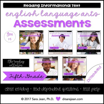 5th Grade • Reading Comprehension Passages and Questions • RL I & II • Bundle