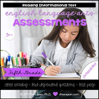 5th Grade • Reading Comprehension Passages and Questions • RL I & II • Set 3