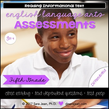 5th Grade • Reading Comprehension Passages and Questions • RL I & II • Set 4