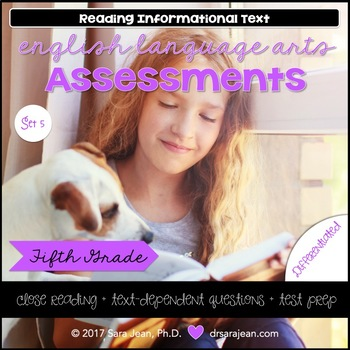 5th Grade • Reading Comprehension Passages and Questions • RL I & II • Set 5