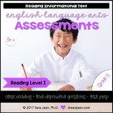 5th Grade • Reading Comprehension Passages and Questions • RL I • Set 2