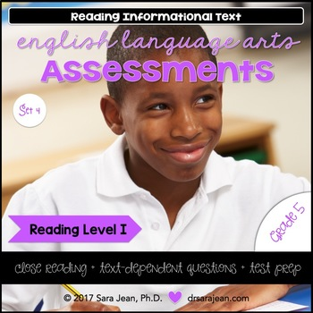 5th Grade • Reading Comprehension Passages and Questions • RL I • Set 4