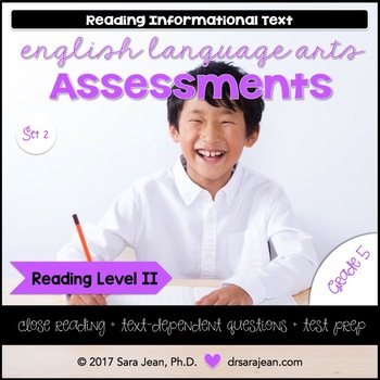 5th Grade • Reading Comprehension Passages and Questions • RL II • Set 2