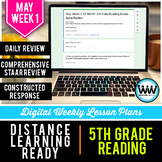 5th Grade Reading Distance Learning May Week 1 | Google Ap