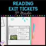 5th Grade Reading Exit Tickets with Google Forms for Dista