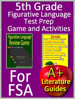 5th Grade Reading FSA Test Prep - Figurative Language Game and Google Activities
