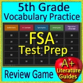 5th Grade FSA Test Prep Reading Vocabulary and Figurative Language Review Game