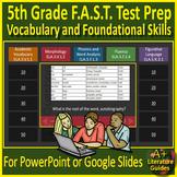 5th Grade FSA Test Prep Reading Vocabulary and Figurative Language Review Game
