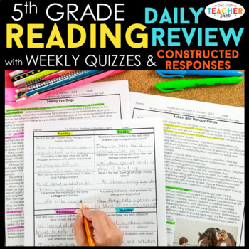 5th Grade Reading Homework 5th Grade Morning Work Reading Comprehension Passages