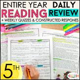 5th Grade Reading Homework or Morning Work | 5th Grade Rea