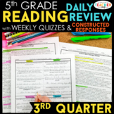 5th Grade Reading Spiral Review | Reading Comprehension Passages | 3rd Quarter