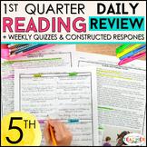 5th Grade Reading Review 5th Grade Reading Homework or Mor