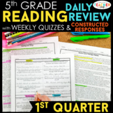 5th Grade Reading Spiral Review   Reading Comprehension Passages   1st Quarter