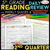 5th Grade Reading Spiral Review | Reading Comprehension Passages | 2nd Quarter