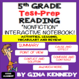 5th Grade Reading Interactive Notebook! Passages, Activities & More!