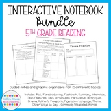 STAAR Aligned 5th Grade Reading Interactive Notebook Bundle (13 topics included)