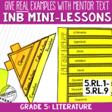 Reading Interactive Notebook with Mini Lessons - 5th Literature Standards