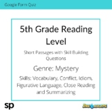 5th Grade Reading Level: Short Passages with Skill Buildin