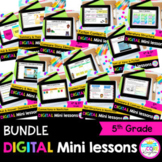 5th Grade Reading Mini Lessons Bundle - Google Slides & Seesaw Distance Learning