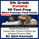 5th Grade Multiple Meaning, Context Clues; Reading Test-Prep Task Cards