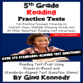 5th Grade Reading Tests, Ten Thorough Research-Based Practice Exams!