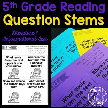 5th Grade Reading Question Stems