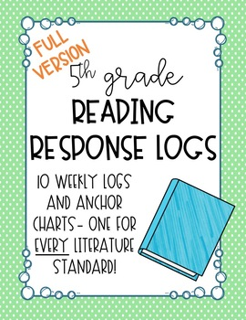 5th Grade Reading Response Logs: Literature