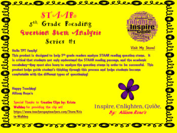 5th Grade Reading:   STAAR Question Analysis