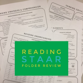 5th Grade Reading STAAR Review Folder